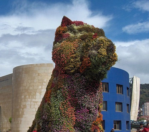 jeff koons The Puppy in bilbao