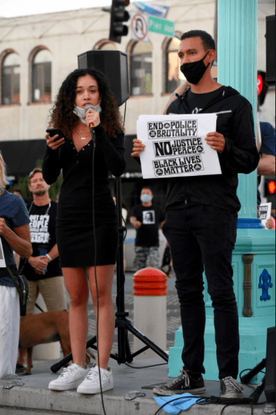 black lives matter protest with dalia feliciano
