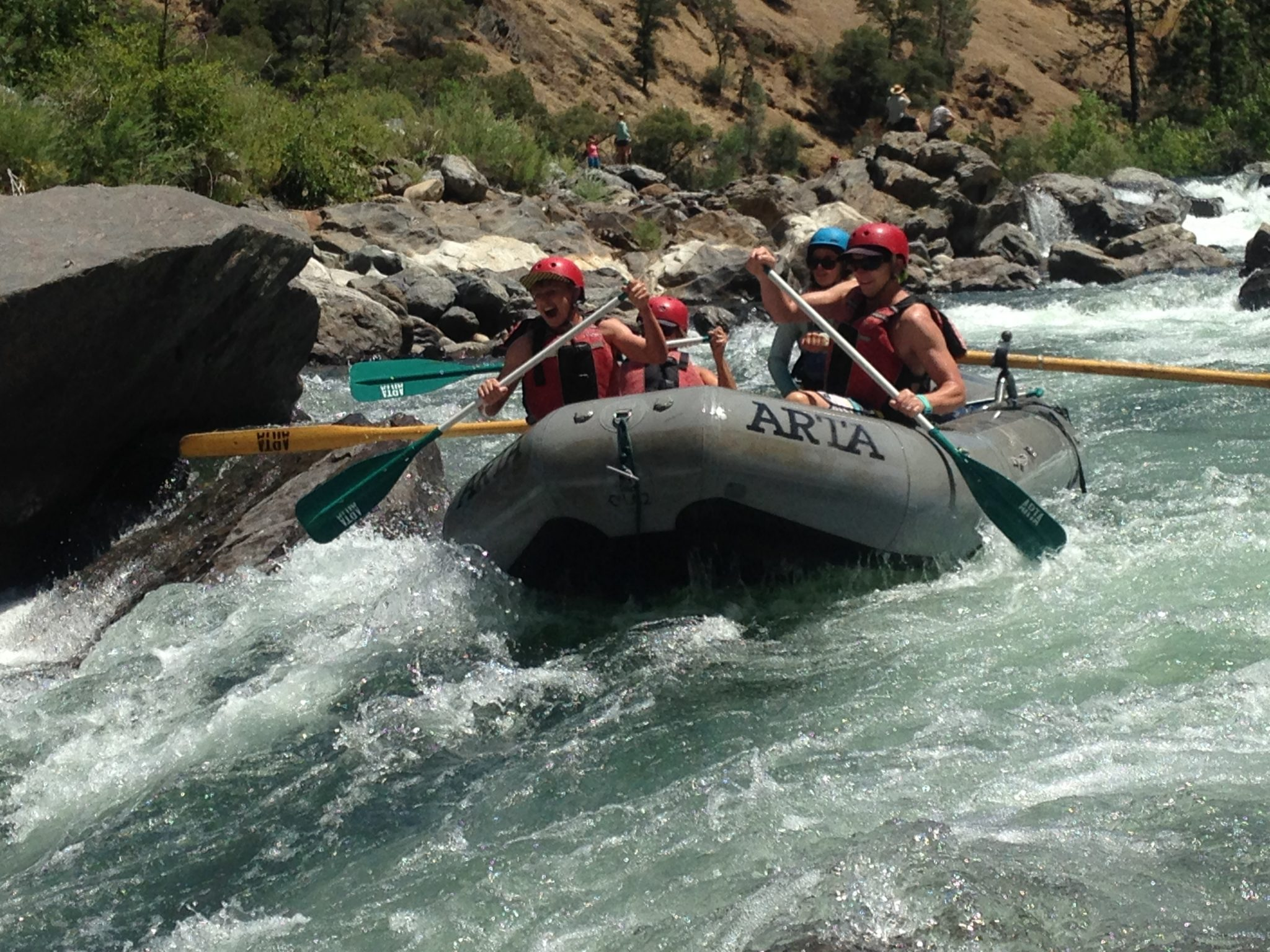 class IV white water rapids tuolomne river