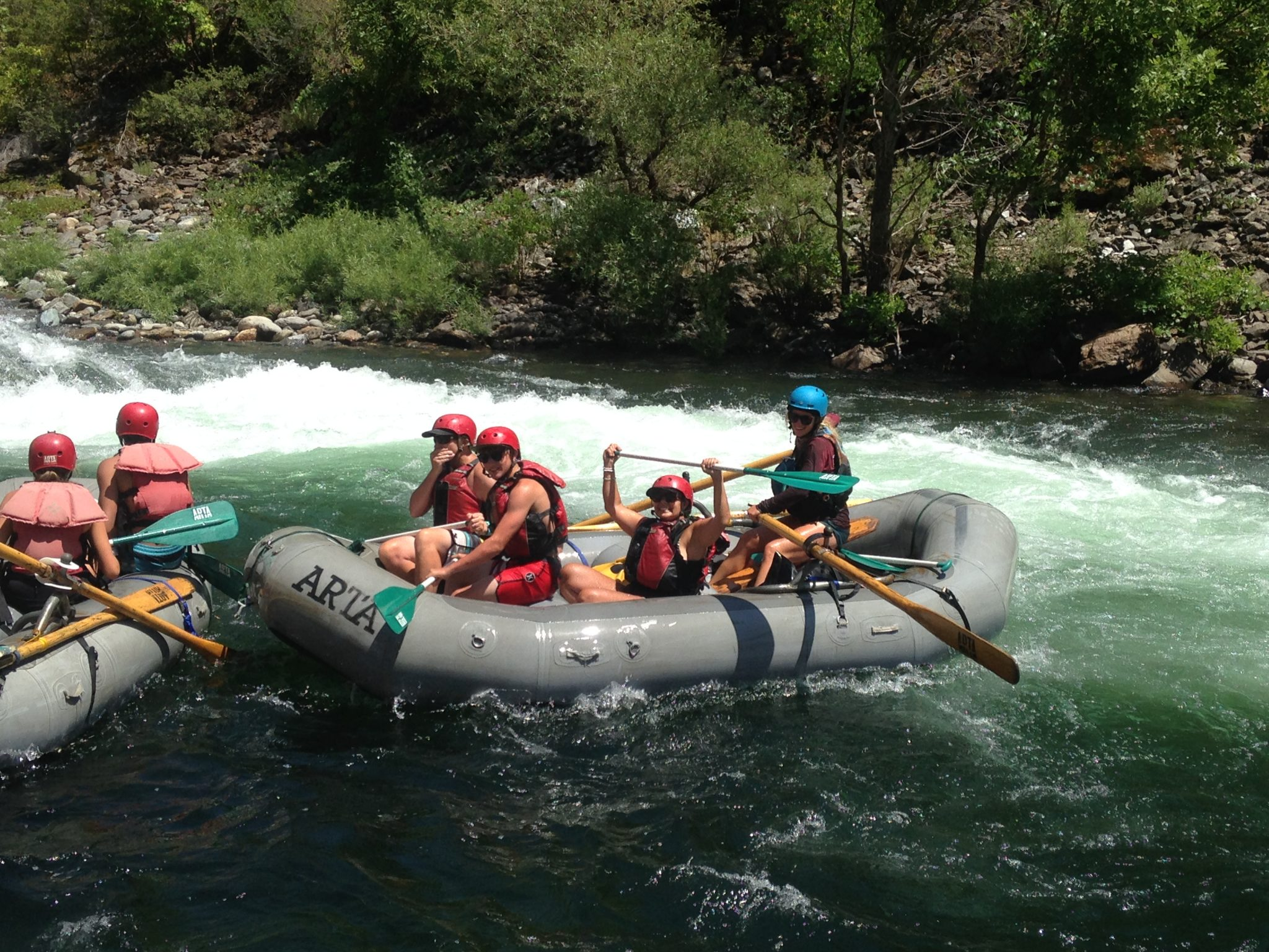 white water rafting with Arta river trips