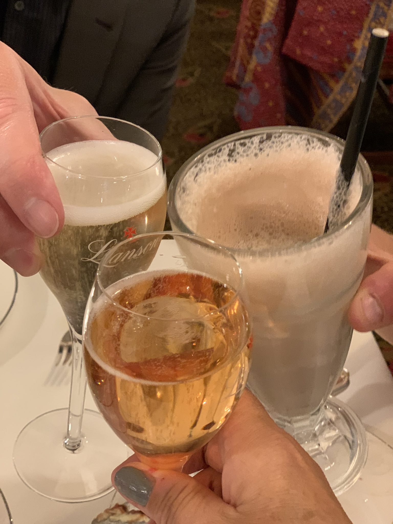 champagne at the chesterfield mayfair hotel - afternoon tea