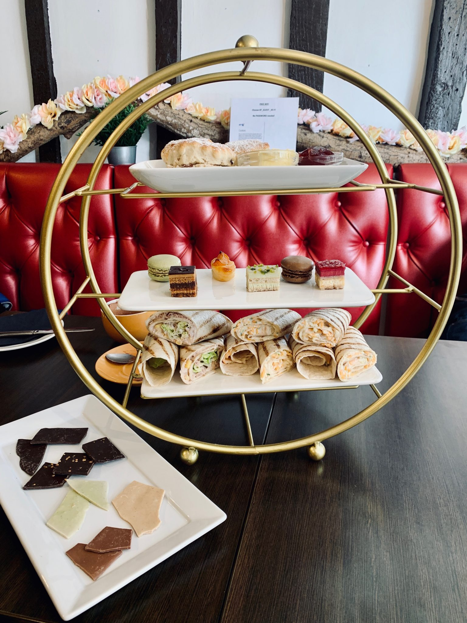 afternoon tea at dr. chocs chocolate factory in windsor