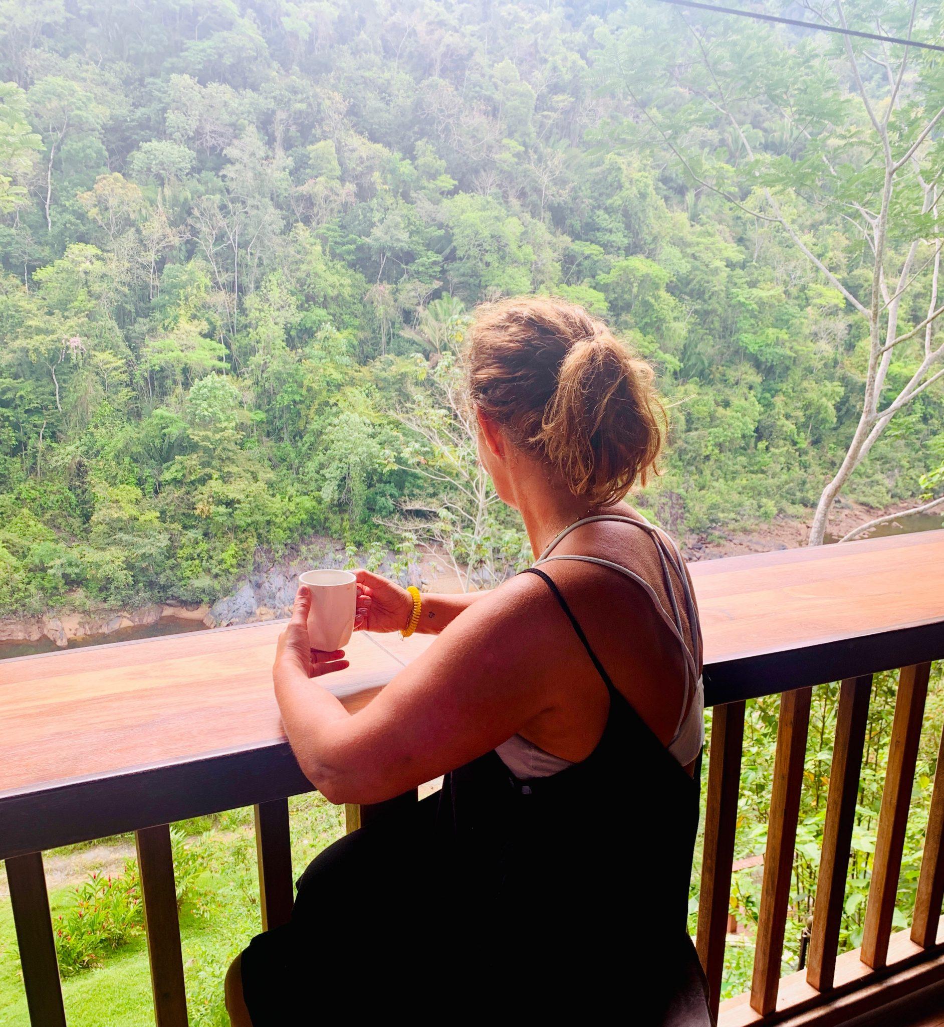 morning coffee at black rock lodge