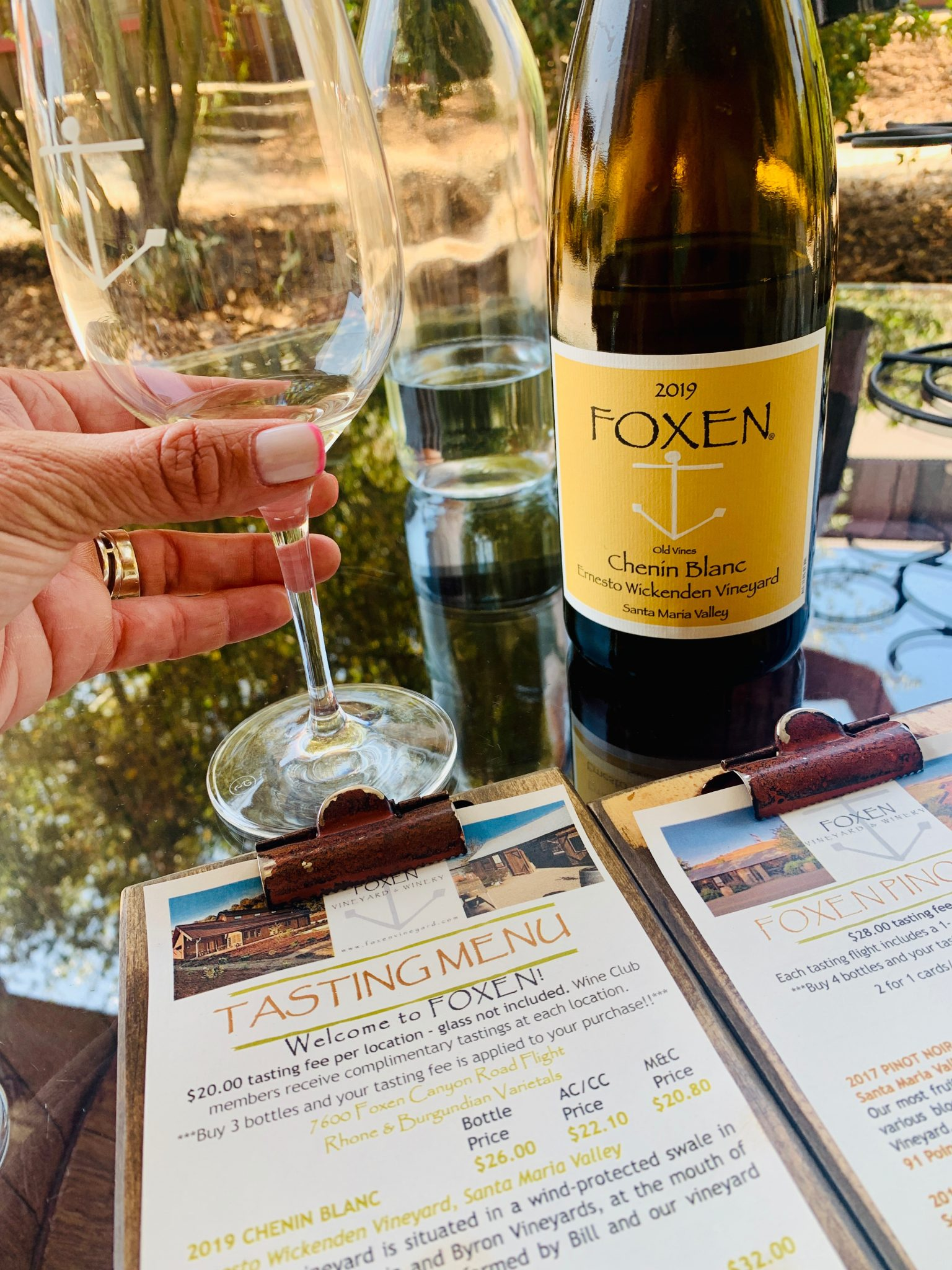 foxen winery on our girls weekend away