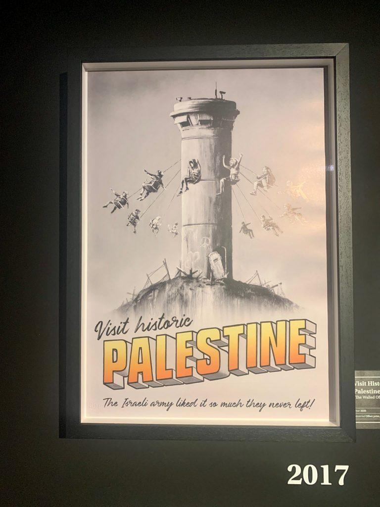 banksy palestine artwork is political